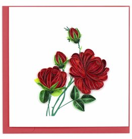 Quilling Card Quilled Red Roses Greeting Card