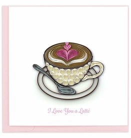 Quilling Card Quilled Love Latte Greeting Card