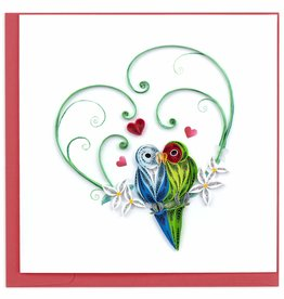 Quilling Card Quilled Love Birds Greeting Card