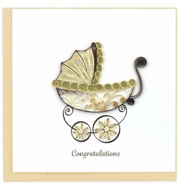 Quilling Card Quilled Baby Carriage Greeting Card
