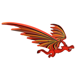 Tulia Artisans Small Red Dragon Flying Mobile