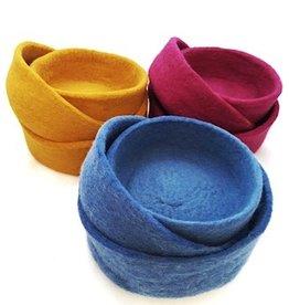 Ganesh Himal Felted Nesting Bowls