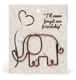 Ten Thousand Villages Wire Elephant Gift Bookmark