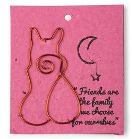 Ten Thousand Villages Wire Cat Gift Bookmark