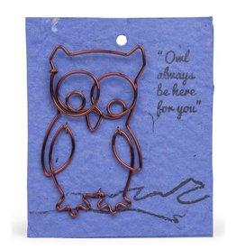 Ten Thousand Villages Wire Owl Gift Bookmark