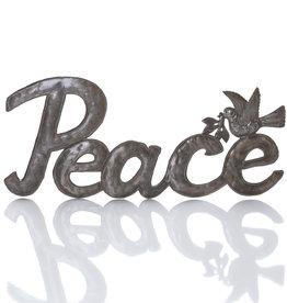Serrv Recycled Metal Peace Art