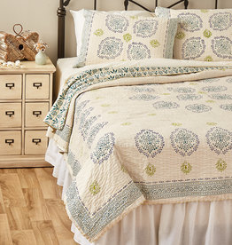 Serrv Vasanti Cotton Bedding - Queen Quilt
