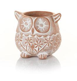 Serrv Who's Who Owl Terracotta Planter