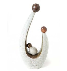 Swahili African Modern Stone Parenthood Sculpture