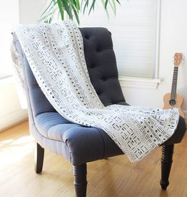 Swahili African Modern Mud cloth Throw Blanket