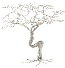 Swahili African Modern Recycled Wire Acacia Tree Sculpture