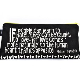 """Swahili African Modern Black Love Comes More Naturally 12"""" Mandela Pouch"""