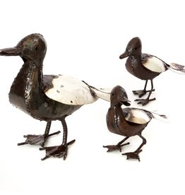 Swahili African Modern Recycled Metal Mama Duck