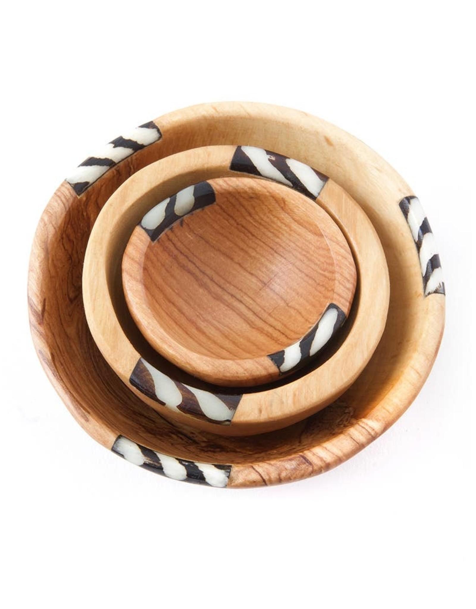 Swahili African Modern Batik Bowl Inlay Bowl - Small