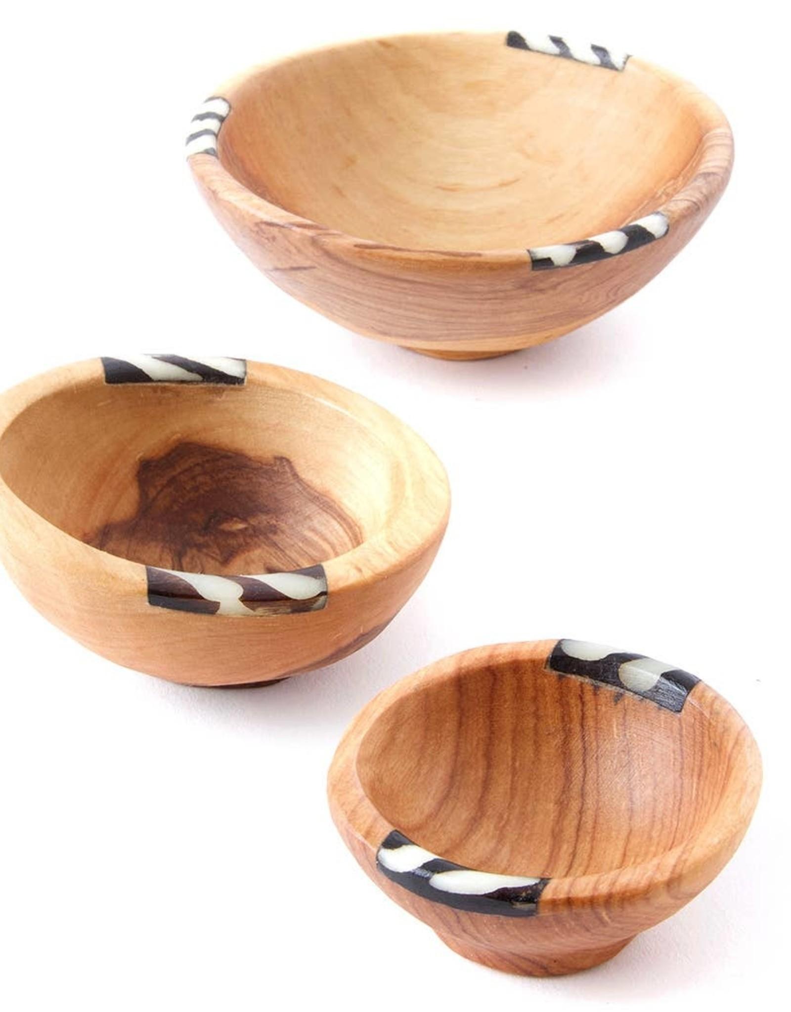 Swahili African Modern Batik Inlay Bowl - Large