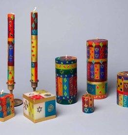 Thumbprint Artifacts Judaica Candle - Pillar 3x 8