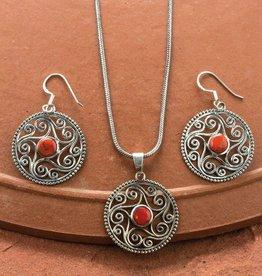 Sevya Handmade Coral Star Necklace Set