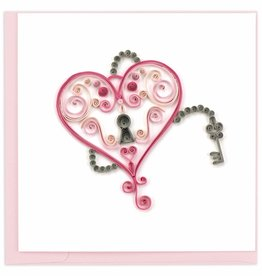 Quilling Card Quilled Key to My Heart Greeting Card