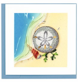 Quilling Card Quilled Sand Dollar Greeting Card