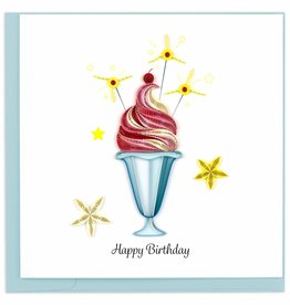 Quilling Card Quilled Birthday Sundae Greeting Card