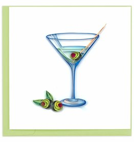Quilling Card Quilled Gin Martini Greeting Card