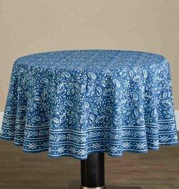 Serrv Round Floral Indigo Tablecloth