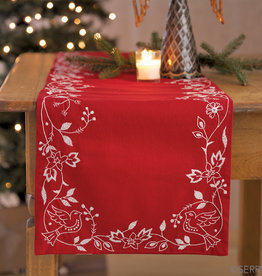 Serrv Doves of Peace Holiday Table Runner