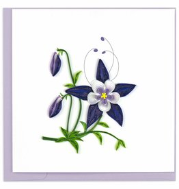 Quilling Card Quilled Rocky Mountain Columbine Greeting Card