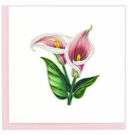 Quilling Card Quilled Calla Lily Greeting Card
