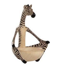 Ten Thousand Villages Yoga Zebra Bowl
