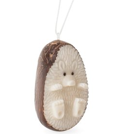 Ten Thousand Villages Tagua Hedgehog Ornament