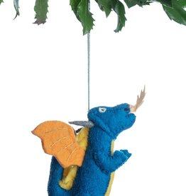 Silk Road Bazaar Blue Dragon Ornament