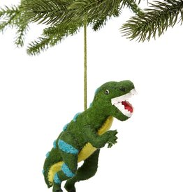 Silk Road Bazaar Green T-rex Ornament