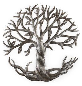Ten Thousand Villages Roots & Leaves Cut Metal Art