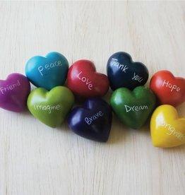 Venture Imports Word Hearts - Grace, Pale Blue