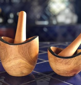 Women of the Cloud Forest Tropical Hardwood Mortar & Pestle - Rustic