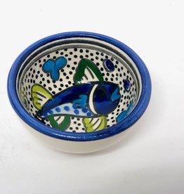 Sobremesa Blue Fish Tiny Ceramic Bowl
