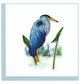 Quilling Card Quilled Blue Heron Greeting Card