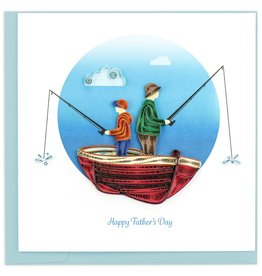 Quilling Card Quilled Father's Day Fishing Greeting Card