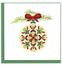 Quilling Card Quilled Traditional Ornament Christmas Card