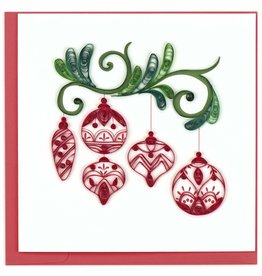 Quilling Card Quilled Red Ornaments Christmas Card