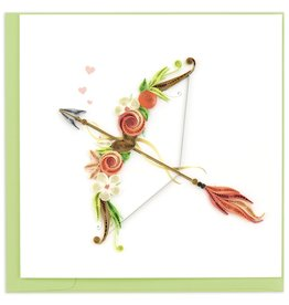 Quilling Card Quilled Cupid's Arrow Greeting Card
