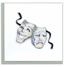 Quilling Card Quilled Theater Masks Greeting Card
