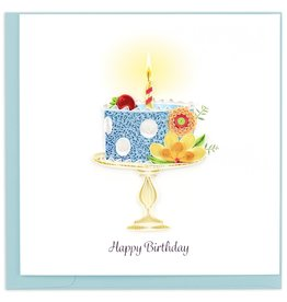 Quilling Card Quilled Whimsical Birthday Cake Greeting Card