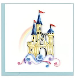 Quilling Card Quilled Castle in the Clouds Greeting Card