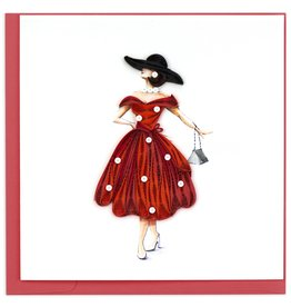 Quilling Card Quilled Vintage Lady Greeting Card