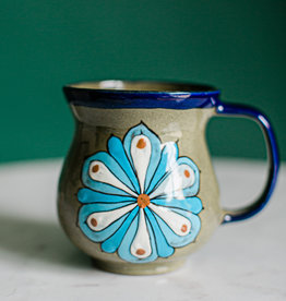 Lucia's Imports Floral Coffee Cup