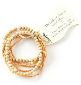 Swahili African Modern Unity Bracelet with White Porcelain Beads