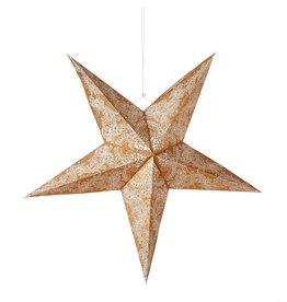 Serrv Large Swirling Gold Star Lantern