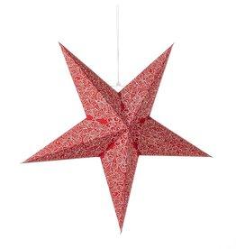 Serrv Large Swirling Red Star Lantern
